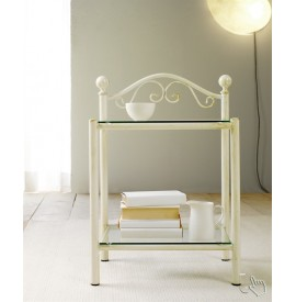 LINA wrought iron bedside...